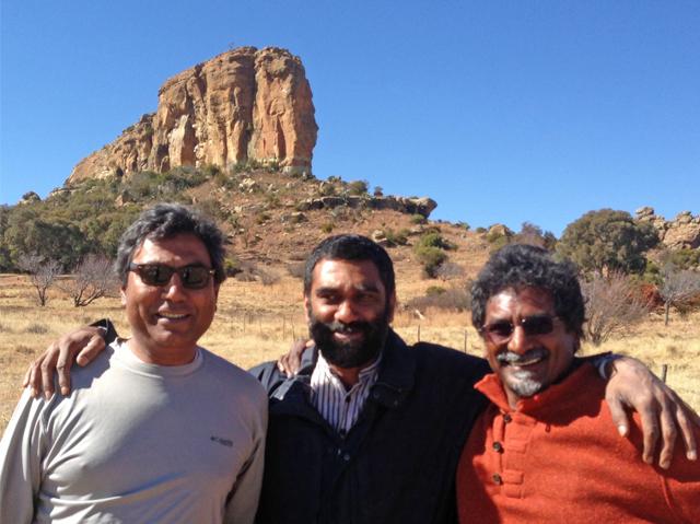 The Earthrise Trustees, Gino Govender, Kumi Naidoo and Jay Naidoo. Photo courtesy Gino Govender