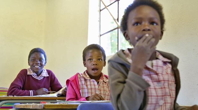 Learners at the Naledi Village school. Photo courtesy Diana Neille